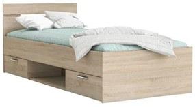 Ágykeret, 90x200, sonoma tölgyfa, MICHIGAN