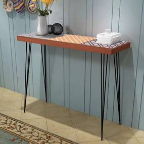 Konzolasztal barna 90x30x71,5 cm