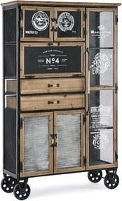 LIVERPOOL tálalószekrény kerekekkel 6 ajtóval és 2 fiókkal
