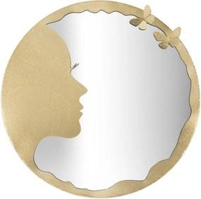 LUXURY II arany és tükröződő vas falitükör
