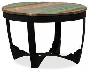Tömör újrahasznosított fa kisasztal 60 x 40 cm