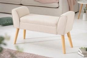 Design ülőpad Dafina 90 cm len bézs