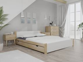 Maxi Drew IKAROS ágy 140x200 cm, fenyőfa Ágyrács: Ágyrács nélkül, Matrac: matrac nélkül