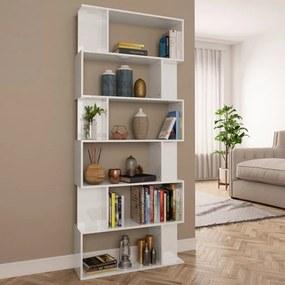 vidaXL magasfényű fehér könyvszekrény/térelválasztó 80 x 24 x 192 cm