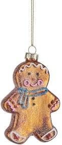 HANG ON üveg karácsonyfadísz, Gingerbread man