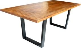 Stílusos étkezőasztal Shayla 200 cm barna - mangó