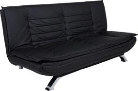 Ízléses ágyazható kanapé Alun 196 cm - fekete