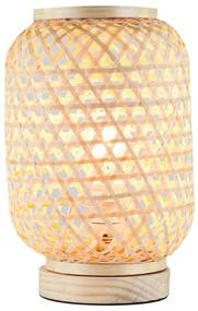 Gyékény asztali lámpa, natúr - CANNAGE