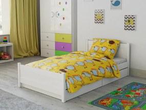 Petr Smolka Bárány sárga pamut baba ágyneműhuzat