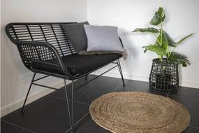 Prince dizájnos kanapé, fekete