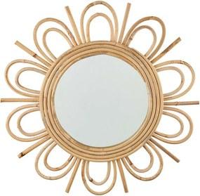 COTTAGE rattan tükör, virág alakú