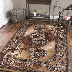 Barna szőnyeg a nappaliba vintage stílusban Szélesség: 250 cm | Hossz: 350 cm