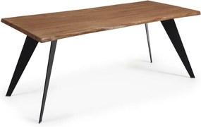 Nack étkezőasztal sötétbarna asztallappal, 180 x 100 cm - La Forma