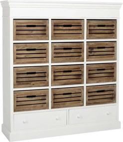 CAMPAGNE szekrény 14 fiók 120x130.5x34.5cm