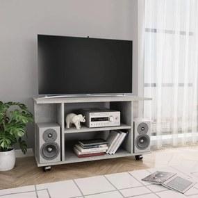 vidaXL betonszürke forgácslap TV-szekrény görgőkkel 80 x 40 x 40 cm