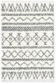 Bézs-szürke bozontos pp berber szőnyeg 120 x 170 cm