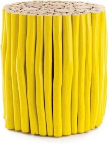 GUADALUPE sárga alacsony dohányzóasztal