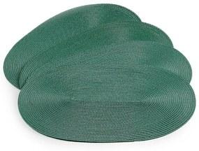 Deco ovális alátét, fűzöld, 30 x 45 cm, 4 db-os készlet