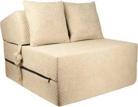 FI Strukturált összehajtható matrac - 200x15x70 cm Szín: Karamell