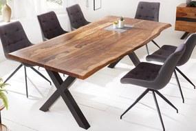 AMAZONAS barna rózsafa étkezőasztal 220x100x76