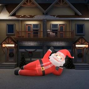 Piros felfújható karácsonyi mikulás led-ekkel ip44 360 cm xxl