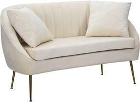 VENICE fehér és arany bársony kanapé