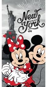 Mickey and Minnie in New York törölköző, 70 x 140 cm