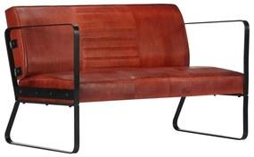 vidaXL barna kétszemélyes valódi bőr kanapé