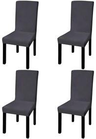 vidaXL 4 db nyujtható szék huzat antracit