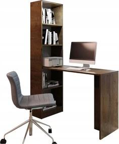 KF KELLY B1 íróasztal - sötét kőris