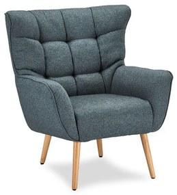 Luxus fotel Abbas kék