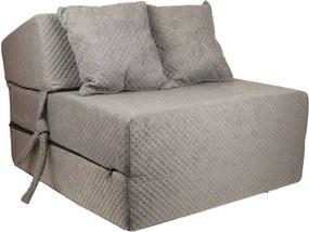 FI Strukturált összehajtható matrac - 200x15x70 cm Szín: Szürke