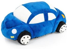 Kisautó formázott párna, kék, 33 x 15 cm