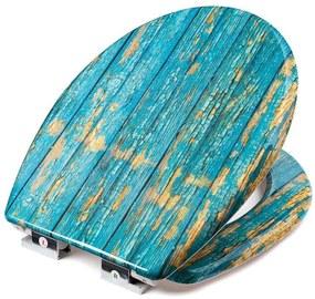 SmileHOME by Pepita duroplaszt WC ülőke lassan záródó fedéllel - kék