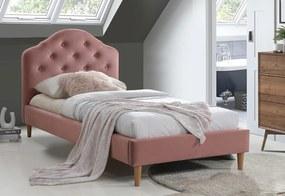 LAURENT Velvet kárpitozott ágy, 90x200, bluvel 52