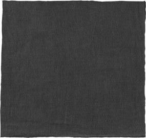 Fekete len szalvéta, 42 x 42 cm - Blomus