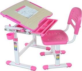 Gyerek íróasztal + szék BAMBINO - különböző színek rózsaszín