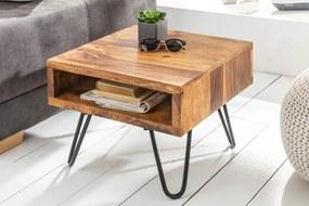 SCORPION barna rózsafa lerakóasztal 45x35x45