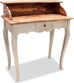 Tömör újrahasznosított fa íróasztal 80 x 40 x 92 cm