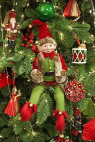 Piros-zöld karácsonyi manó 40cm