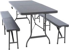 Kerti összecsukható bútor készlet GARTH - antracit