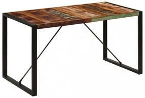 Tömör újrahasznosított fa étkezőasztal 140 x 70 x 75 cm