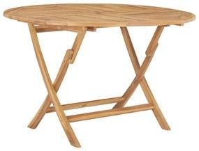 vidaXL összecsukható tömör tíkfa kerti asztal Ø 120 cm
