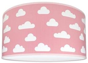 Lampdar Gyerek mennyezeti lámpa CLOUDS PINK 2xE27/60W/230V rózsaszín SA0655