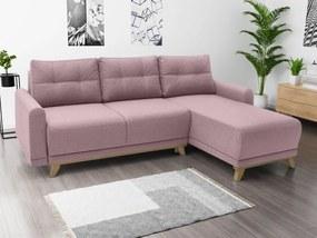 Rózsaszín sarok ülőgarnitúra Orange, jobbos