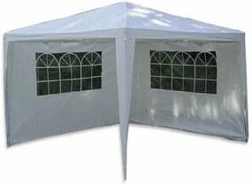 Kerti sátor GARTHEN Fehér 3 x 3 m + 2 oldalfal