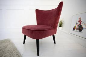 Retro Sixties vörös fotel