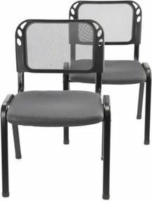 Készlet rakásolható konferencia székból 2 darab - szürke