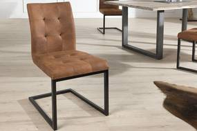 OXFORD konyakszín vas fémvázas szék