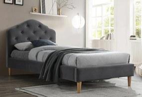 LAURENT Velvet kárpitozott ágy, 90x200, bluvel 14